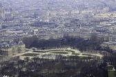 Magestic panorama of Luxembourg garden in Paris — Stock Photo