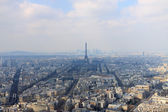 Magestic panorama of Paris with Eiffel tower — Stock Photo