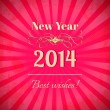2014 - new year greeting design background — Stock Vector #30809645