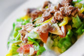 Salad with chiken vegetables... — Stock Photo