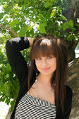 Cute brunette — Stock Photo