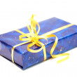Gift box with ribbon — Stockfoto