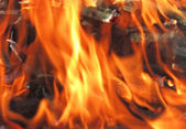 Fire on a black background — Stock Photo