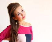 Porträt der junge hübsche frau — Stockfoto
