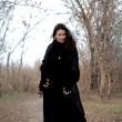 Stok fotoğraf: Shot of gothic womshot of gothic woman