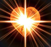 Coração ardente — Fotografia Stock