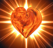 Burning heart — Stockfoto