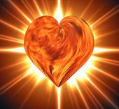 Burning heart — Stock Photo