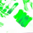 Green watercolor abstract hand painted background — Stock Photo