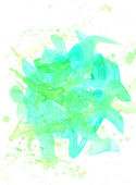 绿色水彩抽象手绘背景 — 图库照片