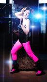 Beautiful dancing girl — Stock Photo