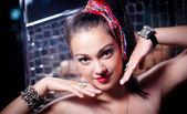 Girl disco — Stock Photo