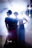 Três graças. meninas bonitas — Fotografia Stock