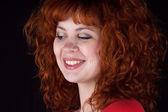 çekici kızıl saçlı kadın — Stok fotoğraf