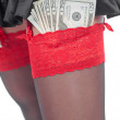 Stock Photo: Stripper'S Tips