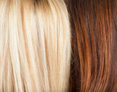 Brown and blond hair background — Stock Photo