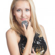 Young woman singing — Stock Photo #20296011