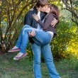 Stock Photo: Romantic young couple kissing...