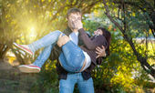 Happy young couple. — Stock Photo