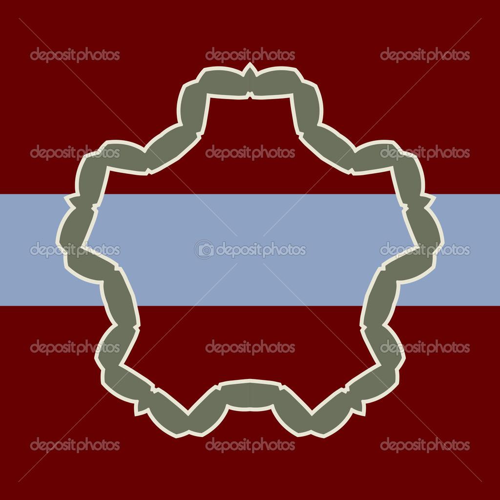 棕色蓝色矢量背景和具有的邀请或公告示例文本框架 — 矢量图片作者 m