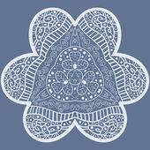 Mehndi like flower — Stock Vector