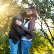 Couple in love in the park on green — Stock Photo #21238435