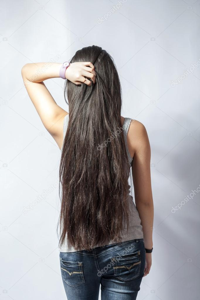 fille avec des cheveux long blonds de dos photographie mettus 21895403. Black Bedroom Furniture Sets. Home Design Ideas