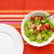 Salad In A White Bowl — Stock Photo