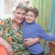 Grandmother with grandson — Stock Photo #22241461