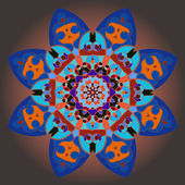 Orientaliska mandala motiv — Stockvektor