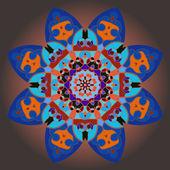 Oryantal mandala motifi — Stok Vektör