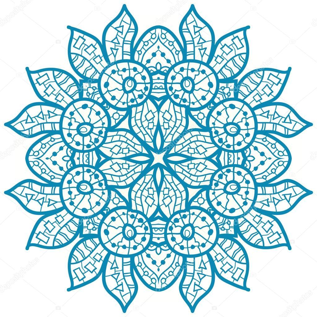 orientalische mandala motiv stockvektor mettus 22499779. Black Bedroom Furniture Sets. Home Design Ideas