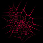 Abstract background. Red network on black — Stock Vector