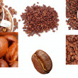 Coffee Cup Beans collage — Stock Photo