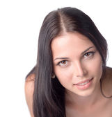 Young 20-24 years old brunette amazing face — Stock Photo