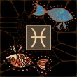 Vetorial Stock : Pisces Zodiac Horoscope Astrology Sign