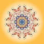 Oriental mandala motif — Stock Vector