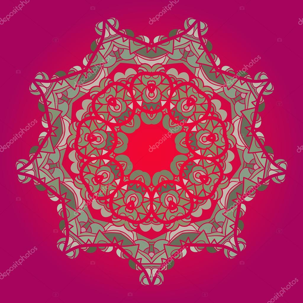 oriental mandala motif stock vector mettus 22883852. Black Bedroom Furniture Sets. Home Design Ideas