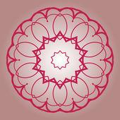 Oriental mandala motif brown blue — 图库矢量图片