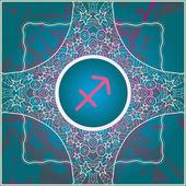 Zodiac sign sagittarius — Stock Vector