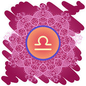Zodiac sign libra What is karma? — Stock Vector