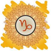 Zodiac sign capricorn What is karma? — Stock Vector