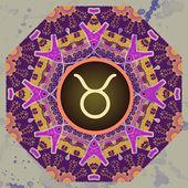 Zodiac sign taurus What is karma? — Stock Vector