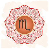 Zodiac sign scorpio What is karma? — Stock Vector