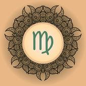 Zodiac sign virgo What is karma? — Stock Vector