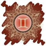 Zodiac sign The Twins (gemini) — Stock Vector
