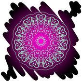 Orientální mandaly motiv - co je karma — Stock vektor