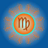 Zodiac sign The Virgin (virgo ) — Stock Vector