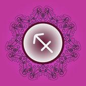 Zodiac sign The Archer (sagittarius) — Stock Vector