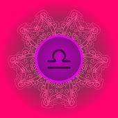 Zodiac sign The Scales (libra) — Stock Vector